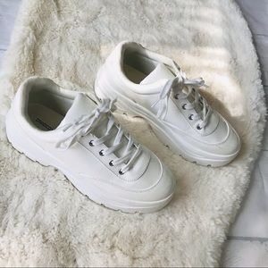 DIVIDED H&M Chunky Platform Tennis Sneaker Shoes Size 40/ Us 8.5